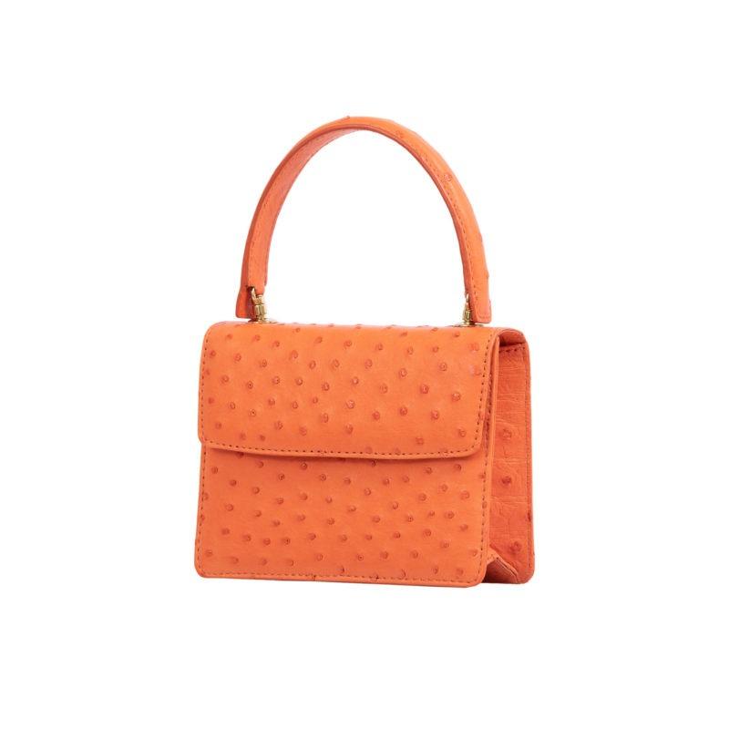 Mini Maxi in Tangerine Ostrich 2