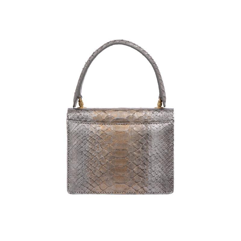 Mini Maxi in Bronze Wash Metallic Python 4