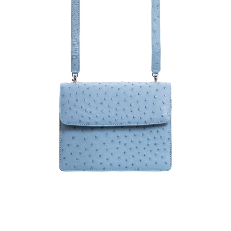 Maxi in Blue Jay Ostrich 3