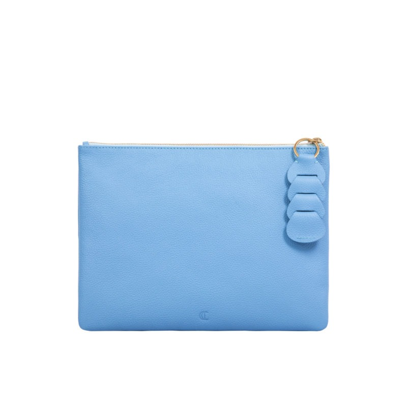 Ella clutch in Sky Blue Nappa 4