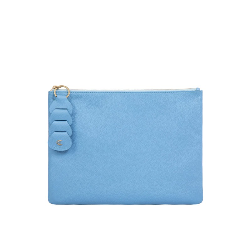 Ella clutch in Sky Blue Nappa 1