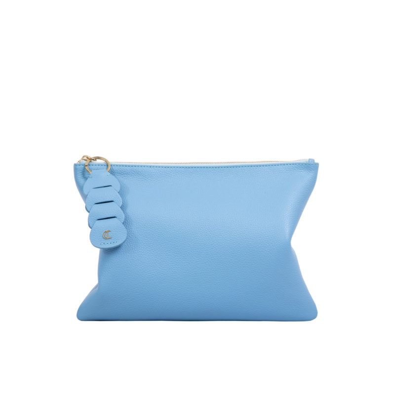 Ella clutch in Sky Blue Nappa 3