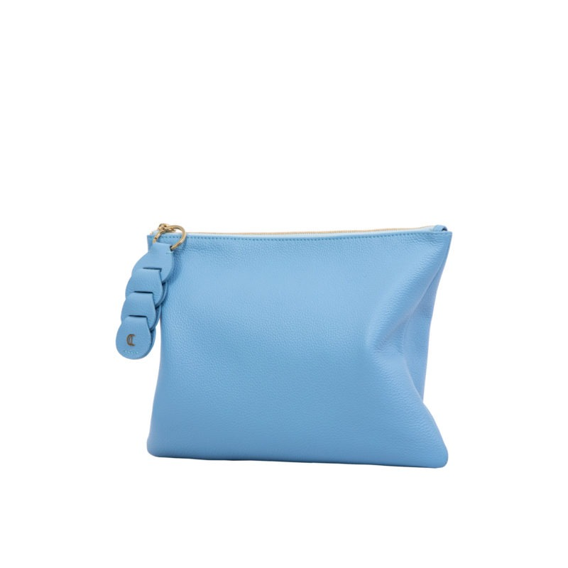 Ella clutch in Sky Blue Nappa 2