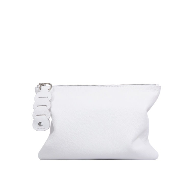 Ella clutch in White Nappa 3