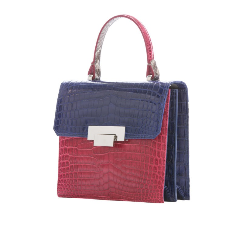 Le Meridian in Red & Navy Crocodile with Python 2