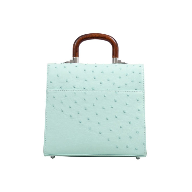 Mona Medium Bag in Spearmint Ostrich 3