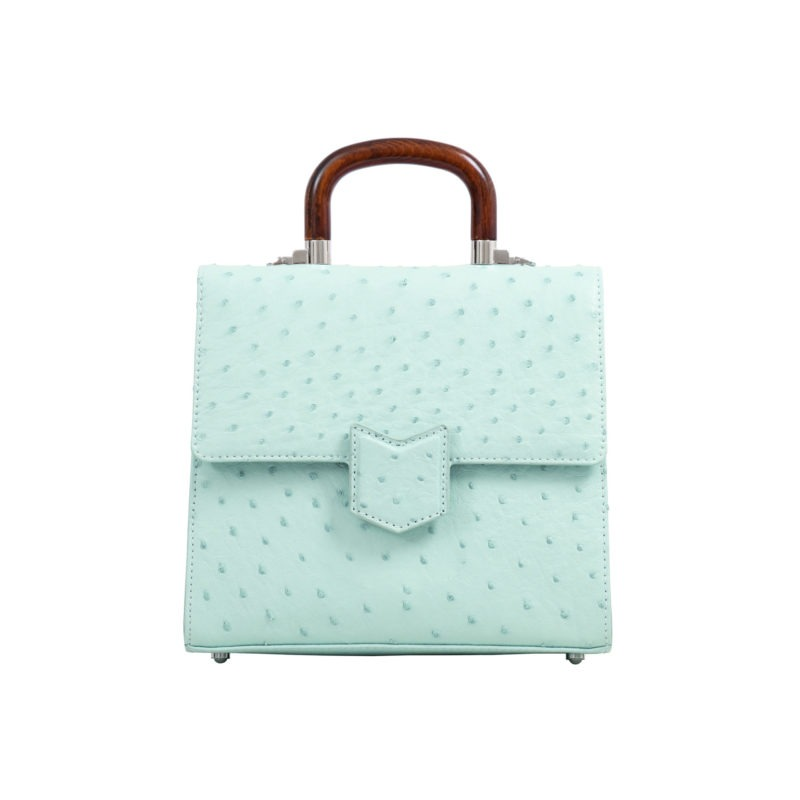 Mona Medium Bag in Spearmint Ostrich 1