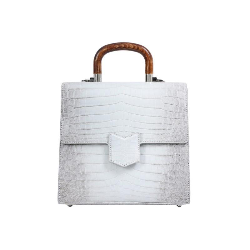 Mona Medium Bag in Himalayan Crocodile 1