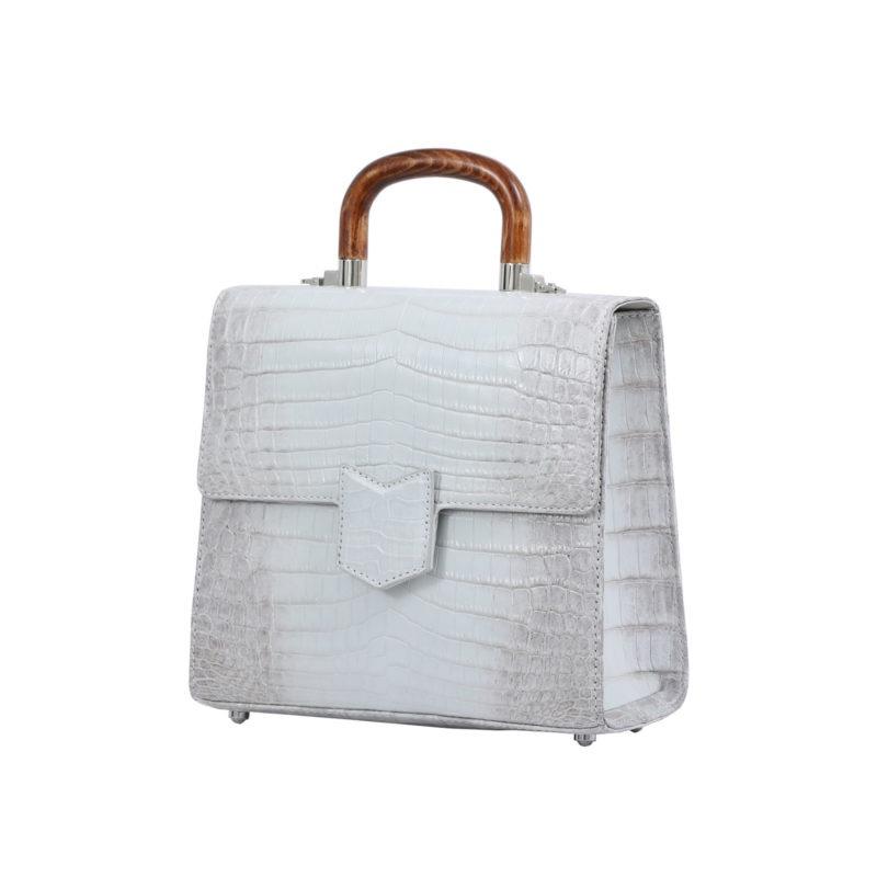 Mona Medium Bag in Himalayan Crocodile 2