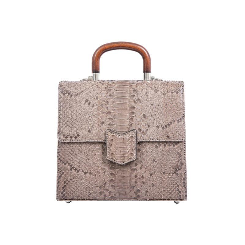Mona Medium Bag in Nutmeg Python 1
