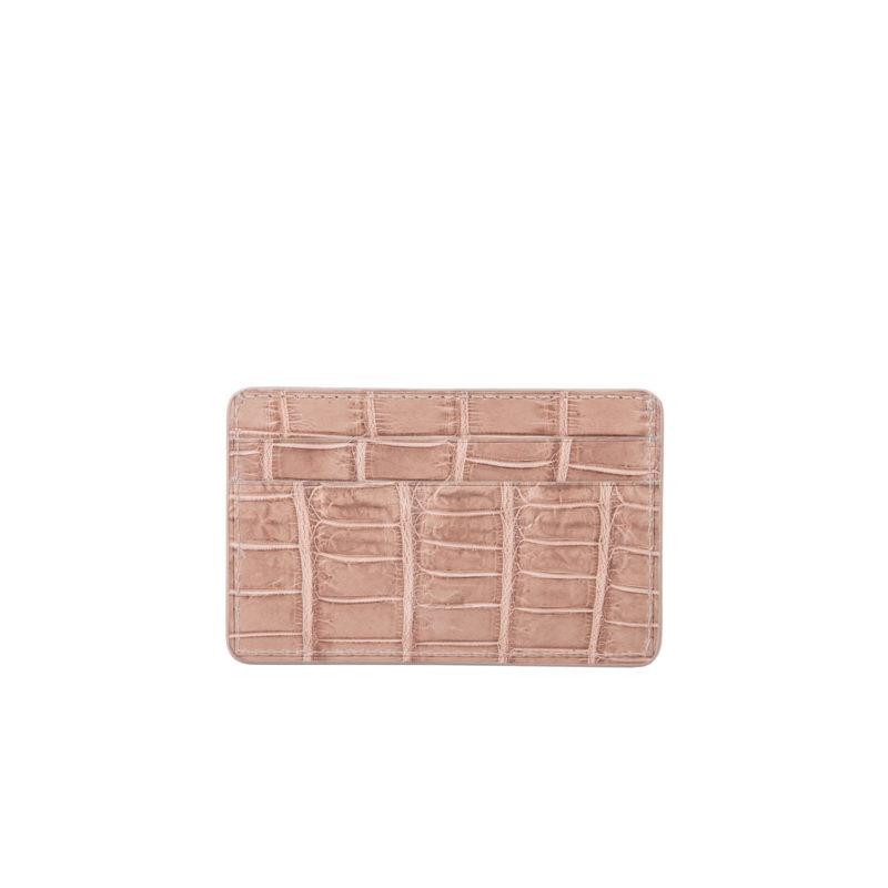 Mona Card Holder in Walnut Crocodile 2
