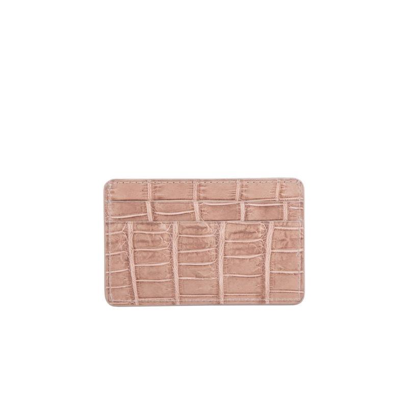 Mona Card Holder in Walnut Crocodile 1