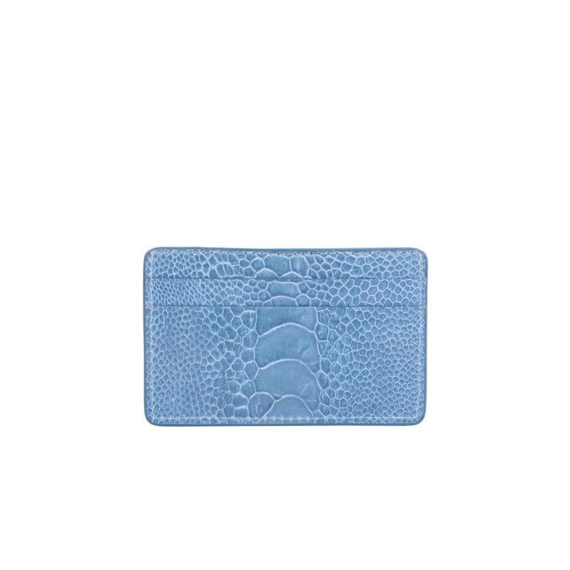 Card Holder in Clemaris Ostrich Leg 2