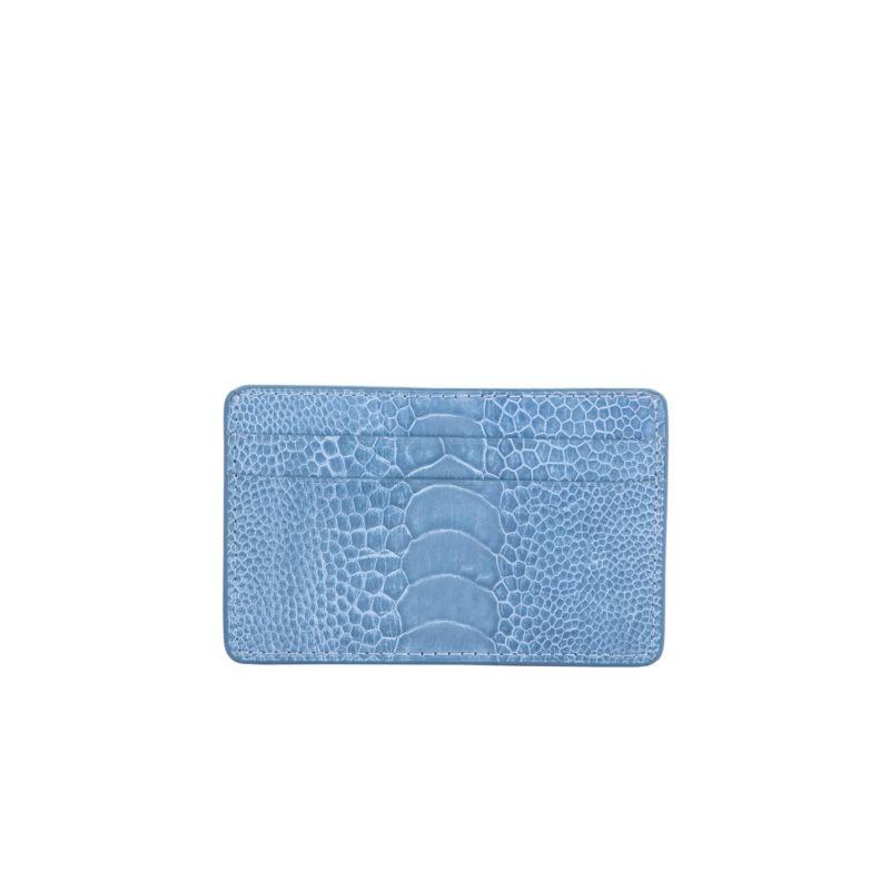 Card Holder in Clemaris Ostrich Leg 1
