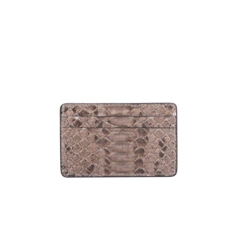 Mona Card Holder in Nutmeg Python 2