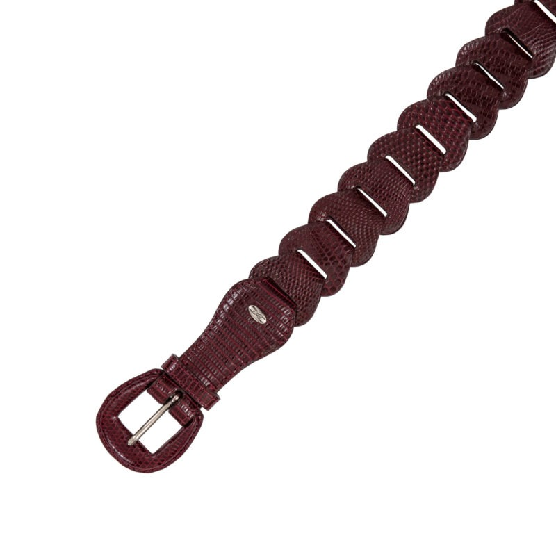 Link Belt in Chilly Red Lizard 1