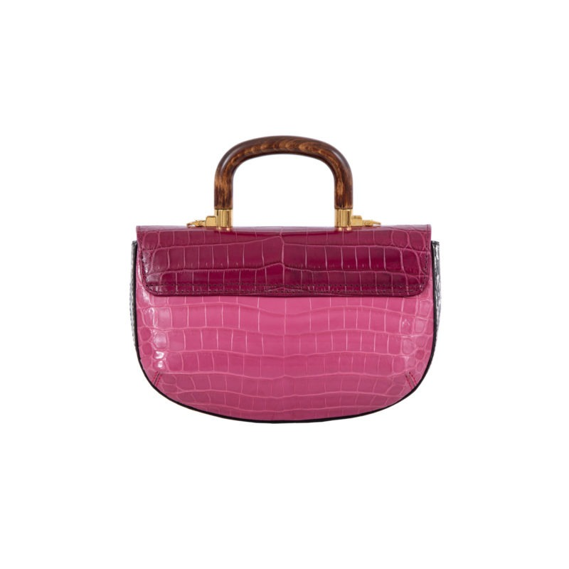 Picco in Mixed Pink Crocodile 3