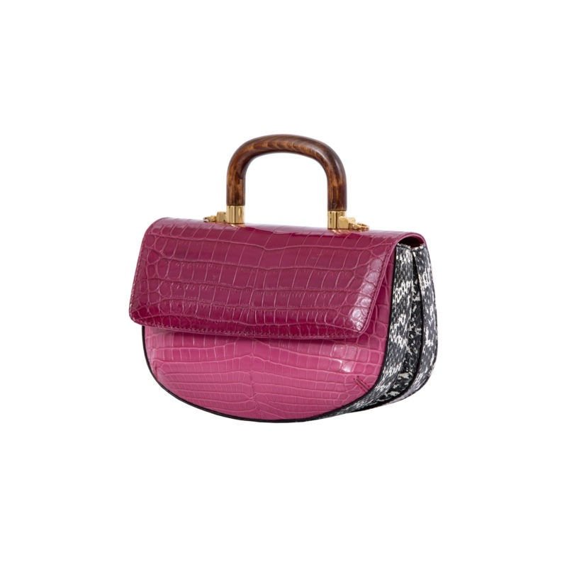 Picco in Mixed Pink Crocodile 2
