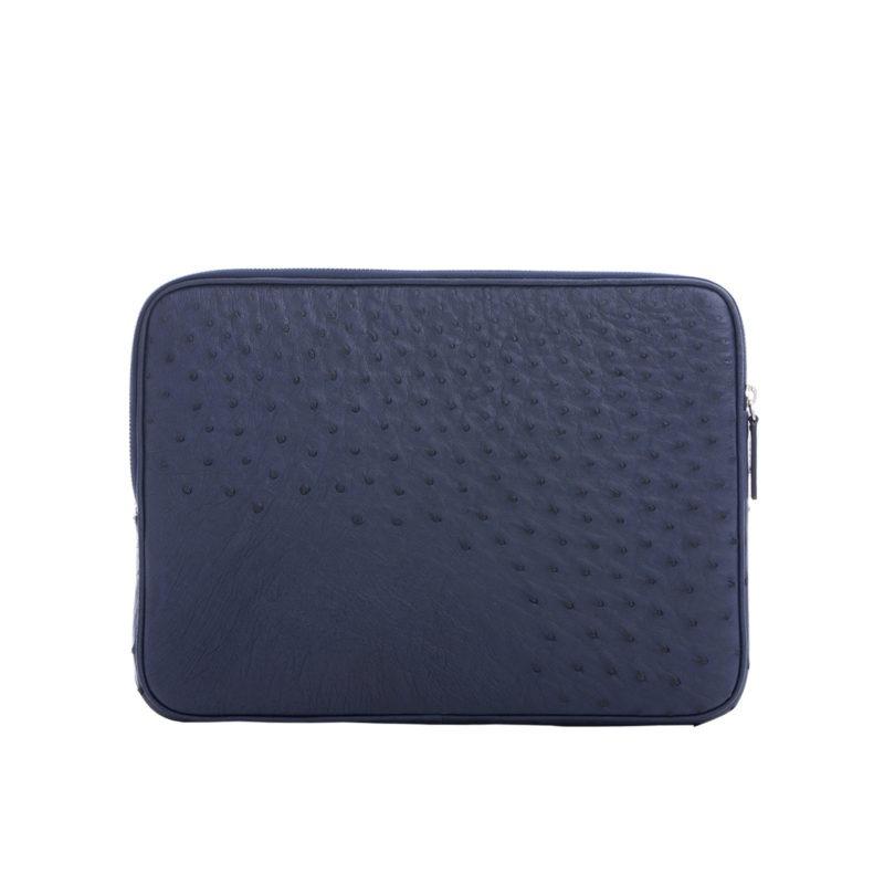 13 inch Laptop Case in Iris Ostrich 3