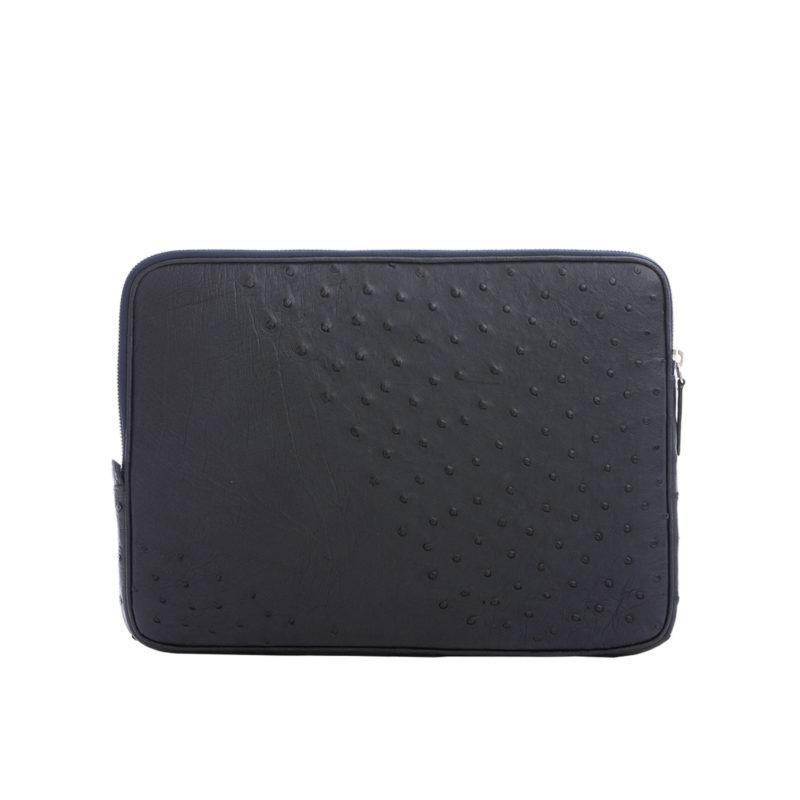 13 inch Laptop Case in Navy Ostrich 3