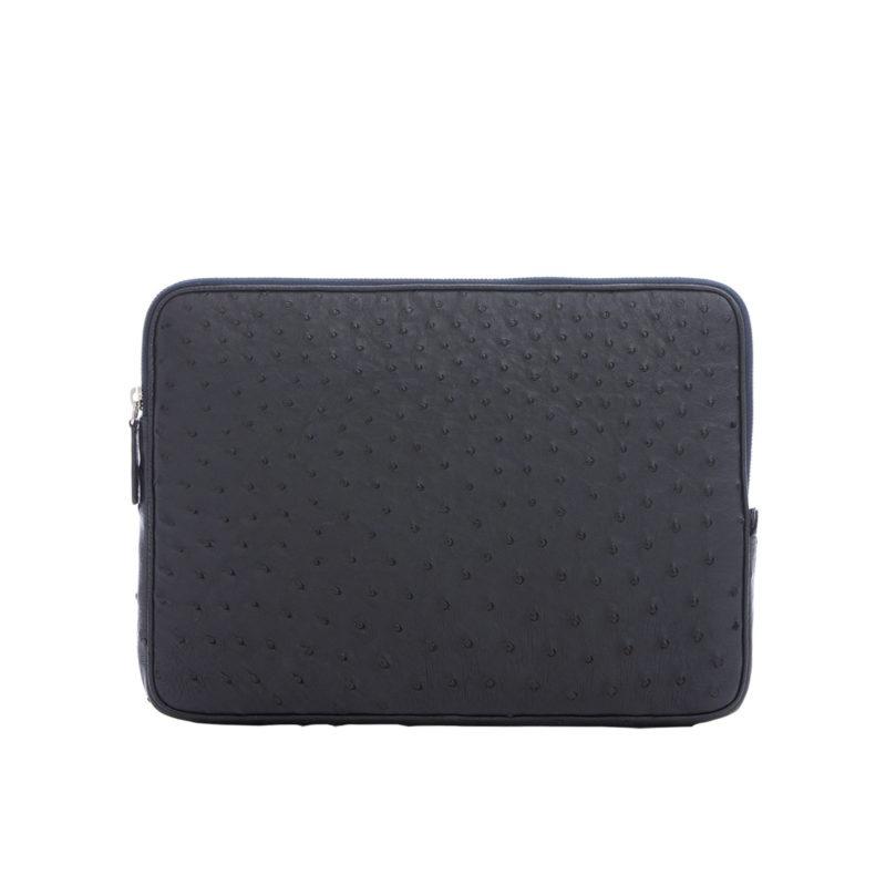 13 inch Laptop Case in Navy Ostrich 1