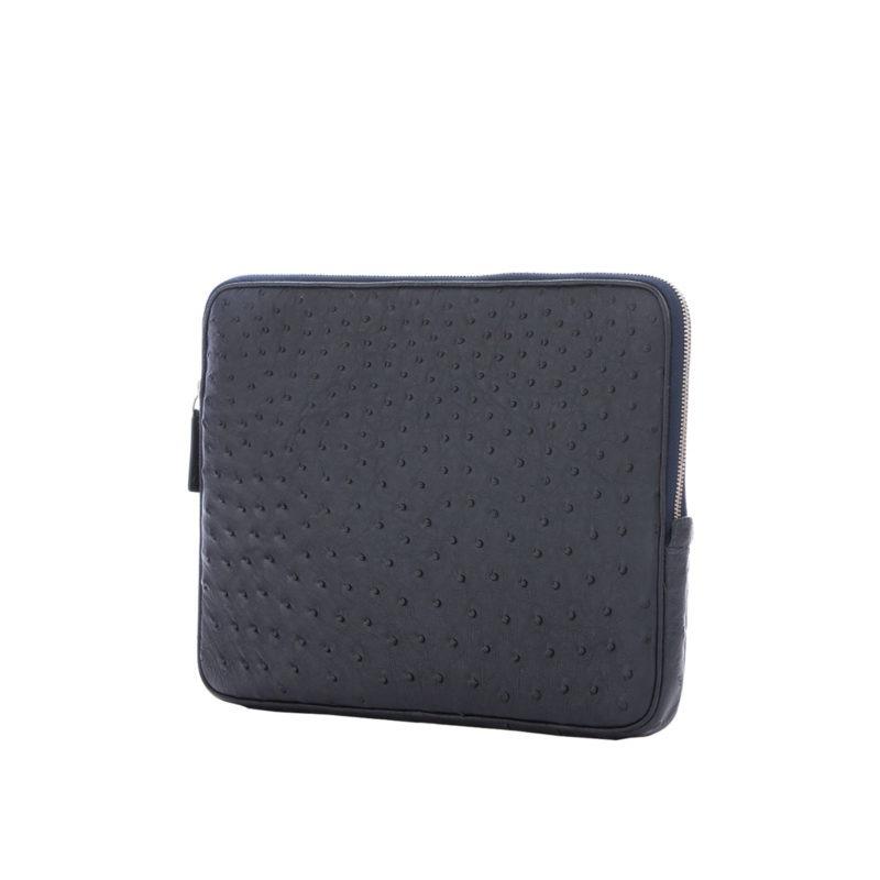 13 inch Laptop Case in Navy Ostrich 2