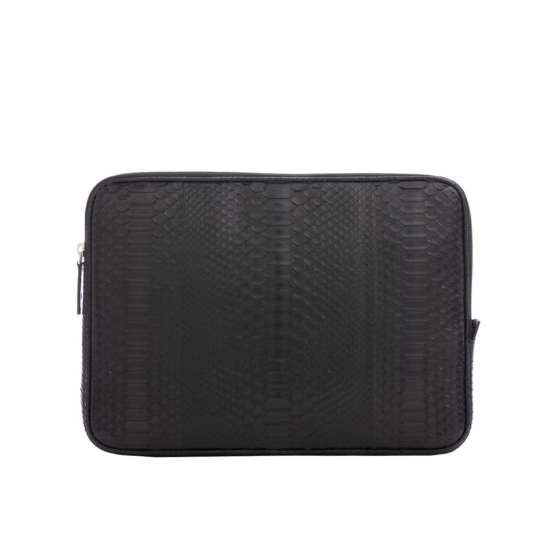 13 inch Laptop Case in Black Python 1