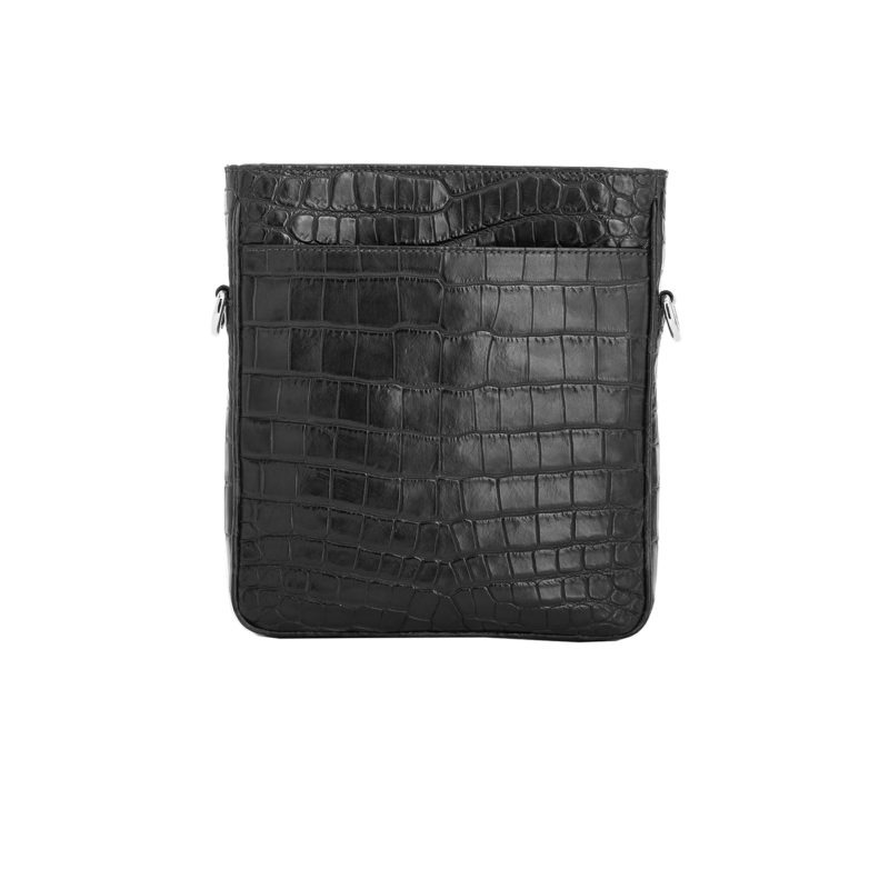 Small Crossbody in Black Crocodile 3