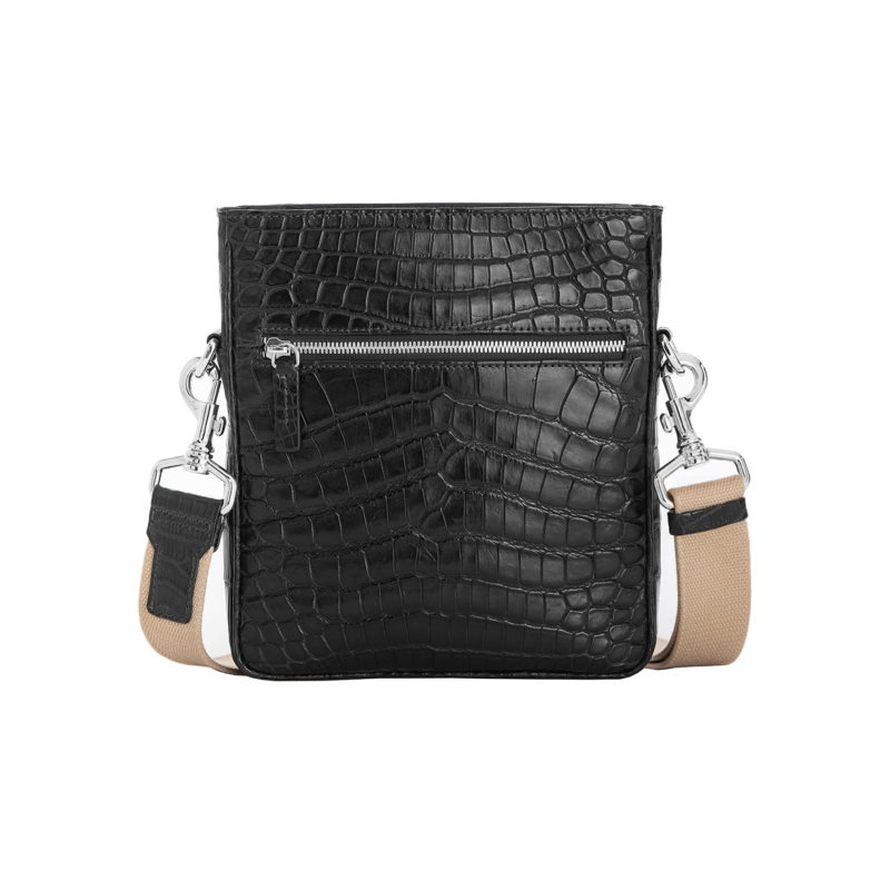 Small Crossbody in Black Crocodile 1