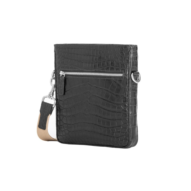 Small Crossbody in Black Crocodile 2