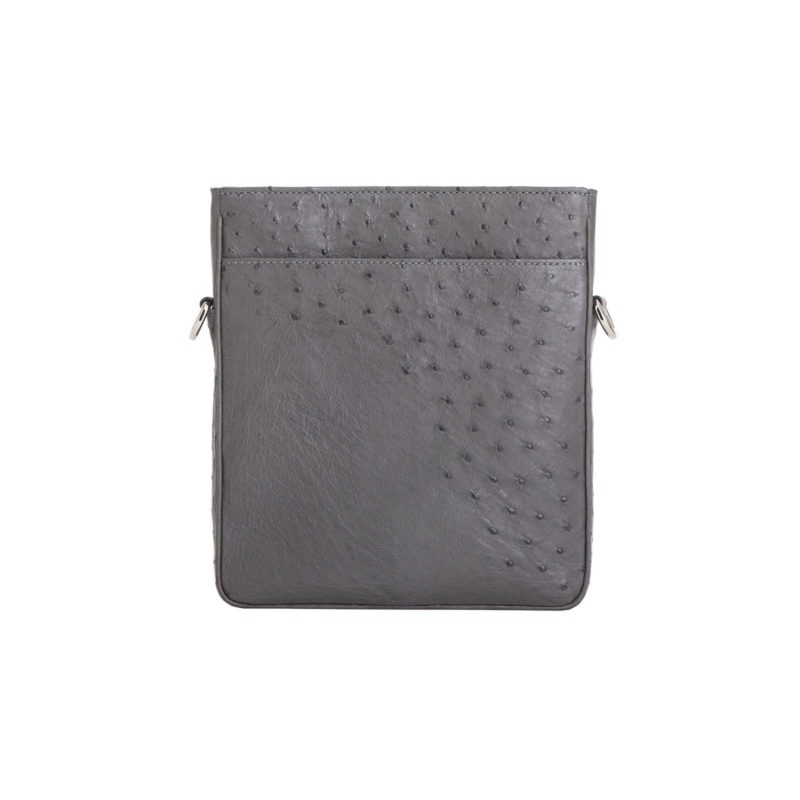 Small Crossbody in Anthracite Ostrich 3