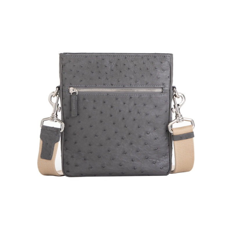 Small Crossbody in Anthracite Ostrich 1