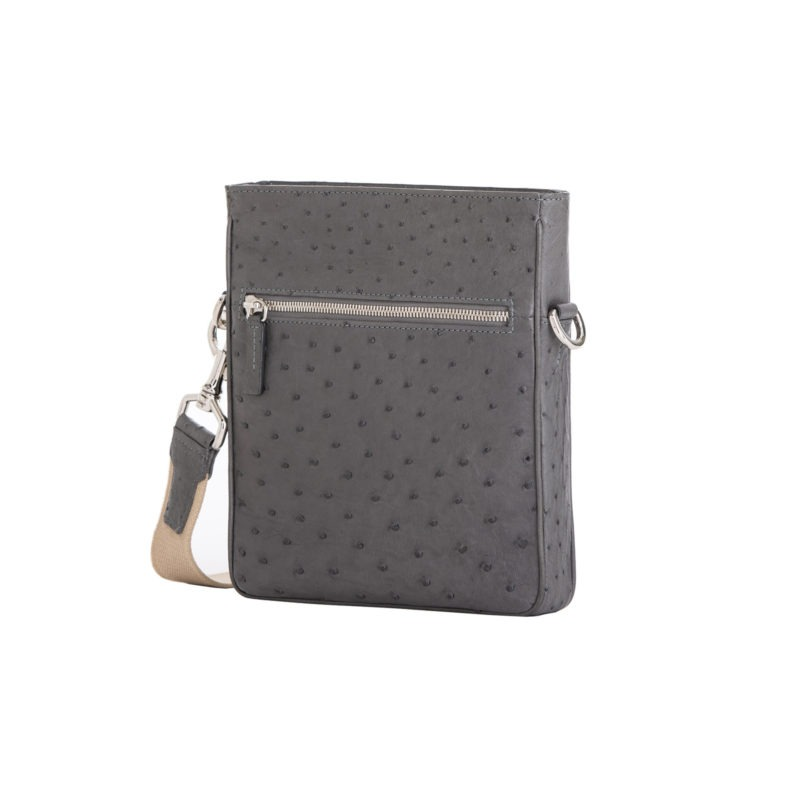 Small Crossbody in Anthracite Ostrich 2