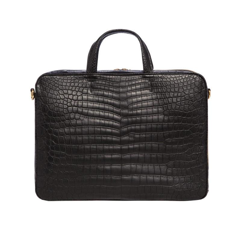 Laptop bag in Black Crocodile 3
