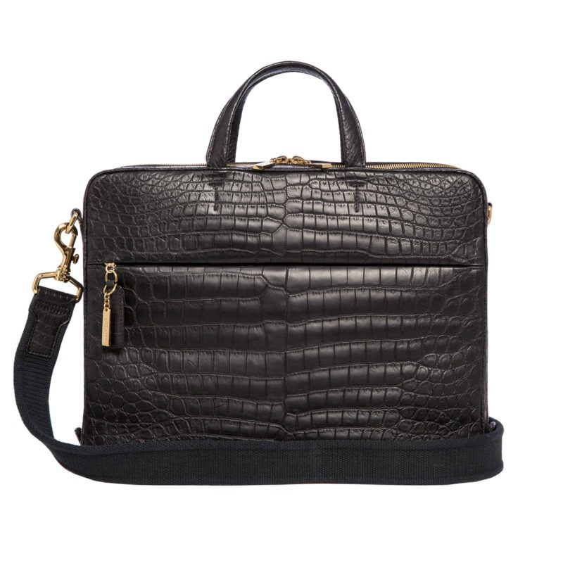 Laptop bag in Black Crocodile 1