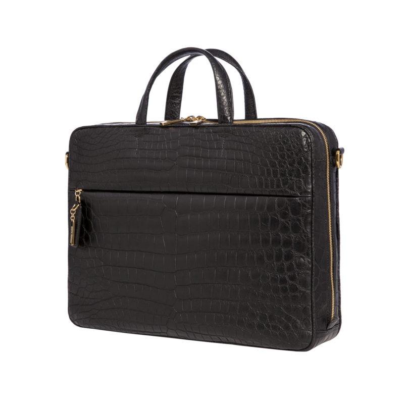 Laptop bag in Black Crocodile 2