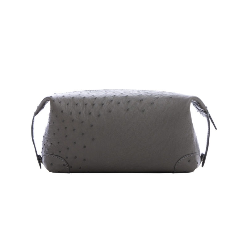 Utility Pouch in Anthracite Ostrich 3