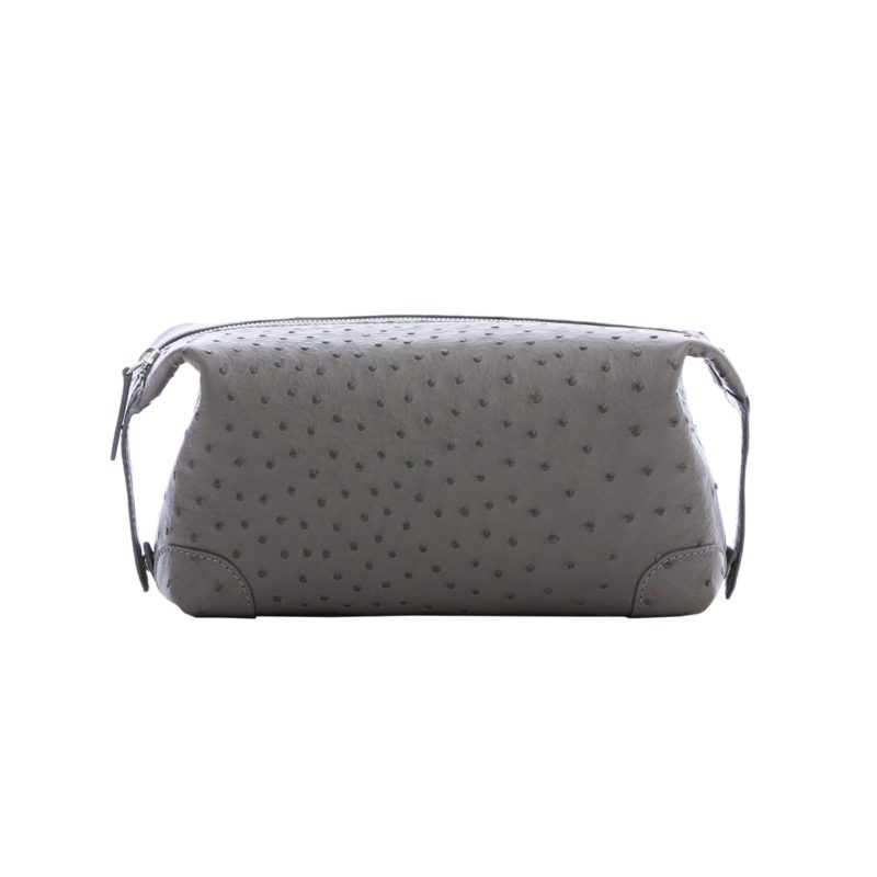 Utility Pouch in Anthracite Ostrich 1
