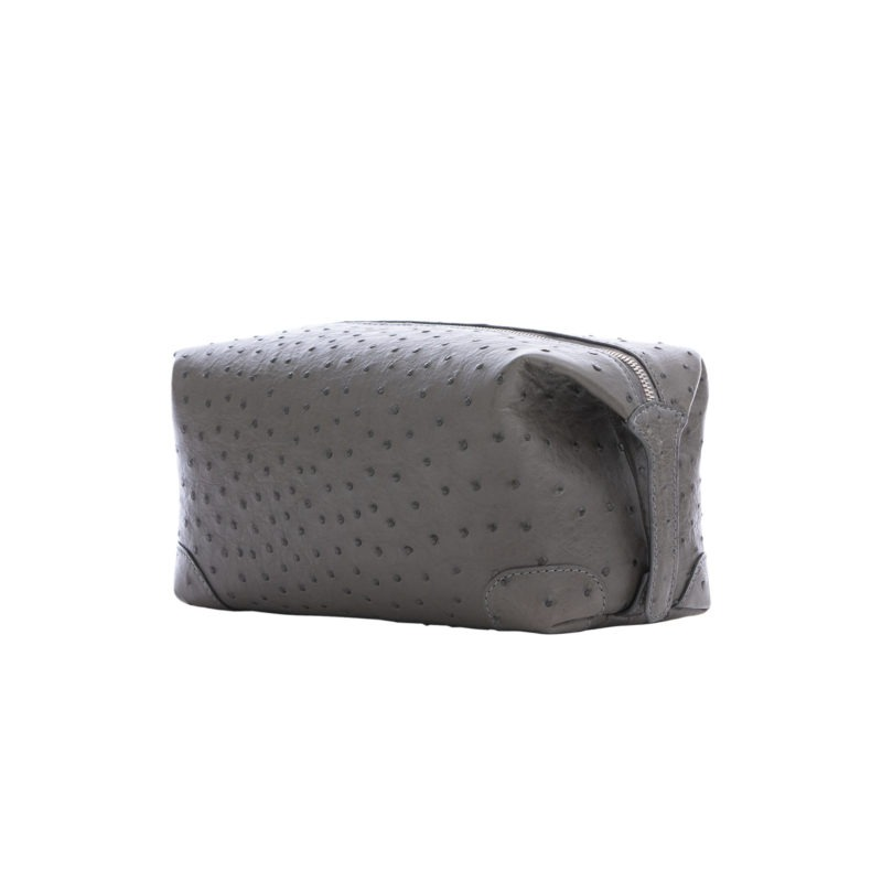 Utility Pouch in Anthracite Ostrich 2