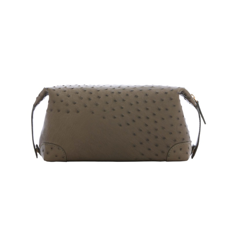 Utility Pouch in Forest Green Ostrich 3