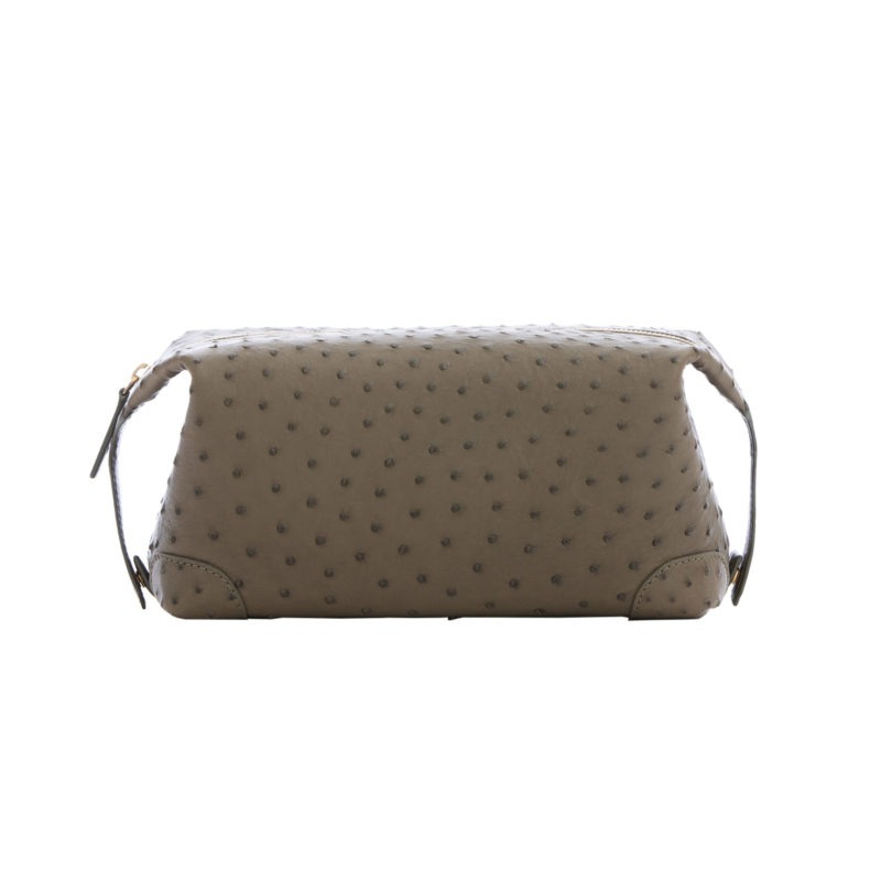 Utility Pouch in Forest Green Ostrich 1