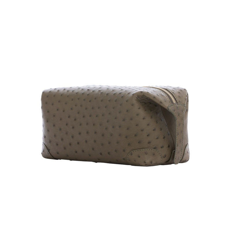 Utility Pouch in Forest Green Ostrich 2