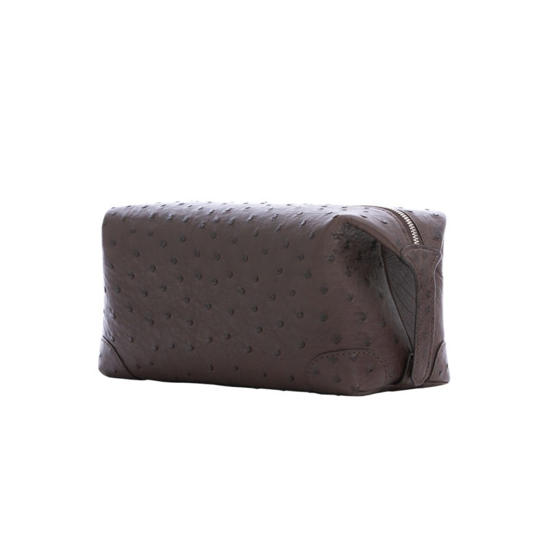Utility Pouch in Nicotine Ostrich 2