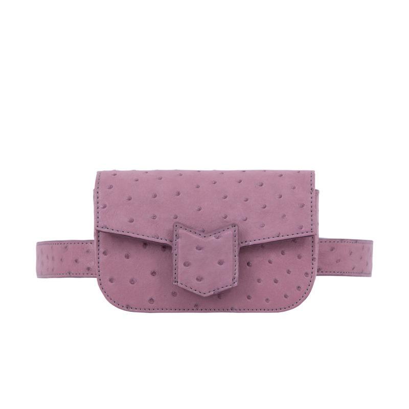 Mona Beltbag in Lavender Ostrich 1
