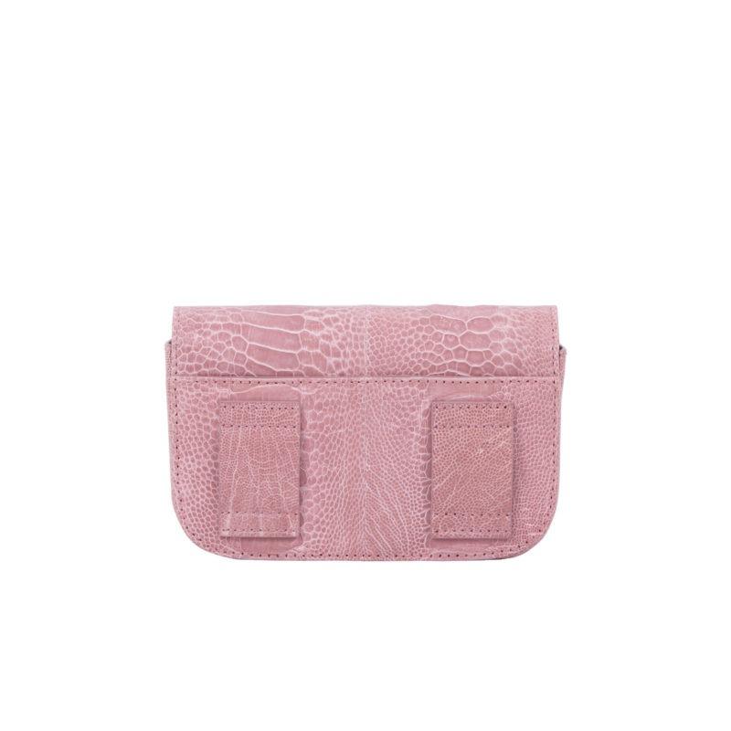 Mona Beltbag in Dusty Pink Ostrich Leg 4