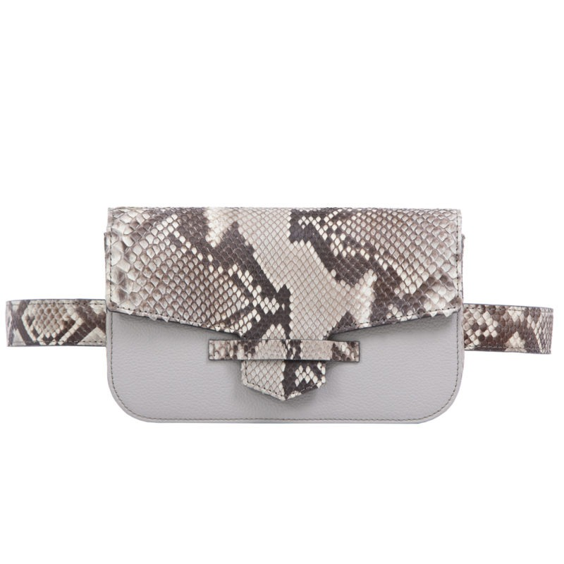 Caia Beltbag in Artic Ice Python & Crystal Nappa Combination 1