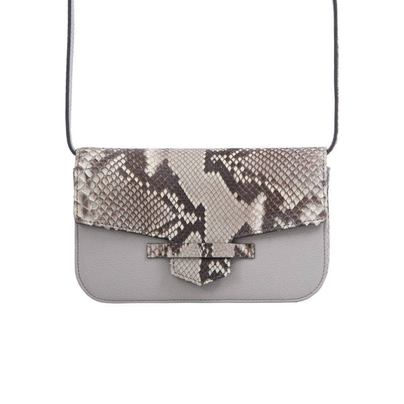 Caia Beltbag in Artic Ice Python & Crystal Nappa Combination 4