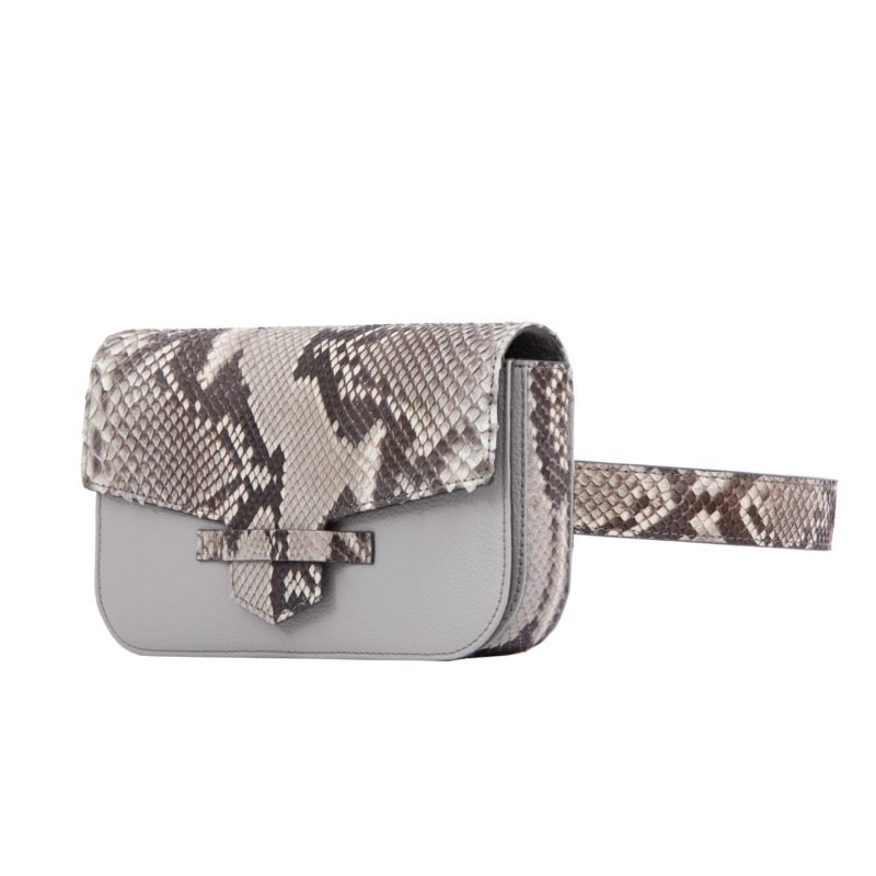 Caia Beltbag in Artic Ice Python & Crystal Nappa Combination 2