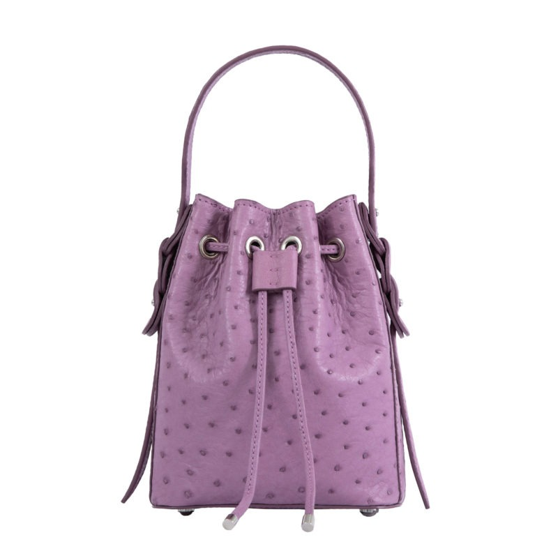 Trixie in Lavender Ostrich 4