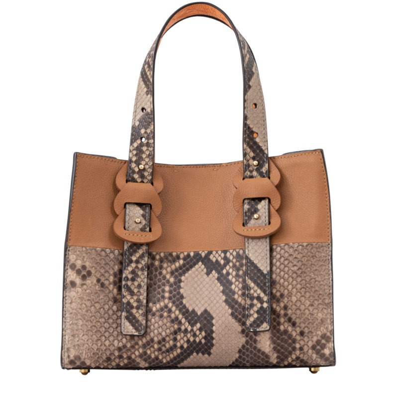 Luana in Cairo Nappa, Toffee Python & Apricot Ostrich 3